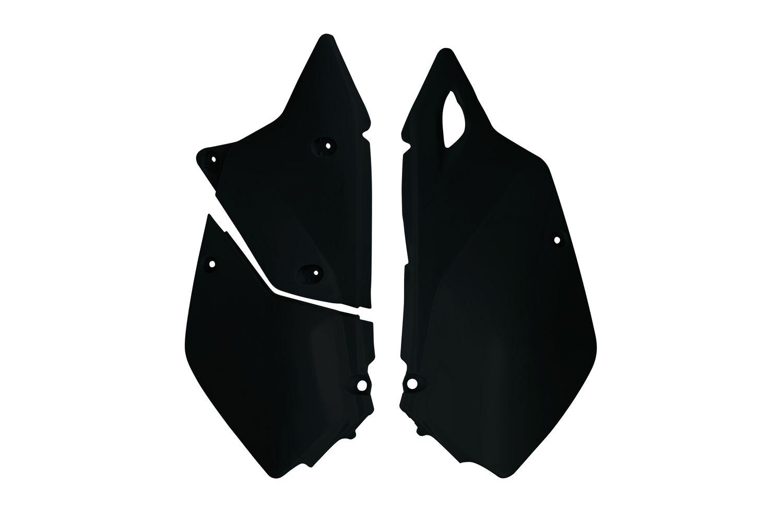 Plaques numéro latérales Racetech noires pour Suzuki DR-Z 400 E 00-05