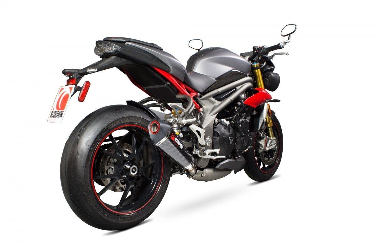 Silencieux Scorpion Serket Taper carbone Triumph Speed Triple 1050 16-