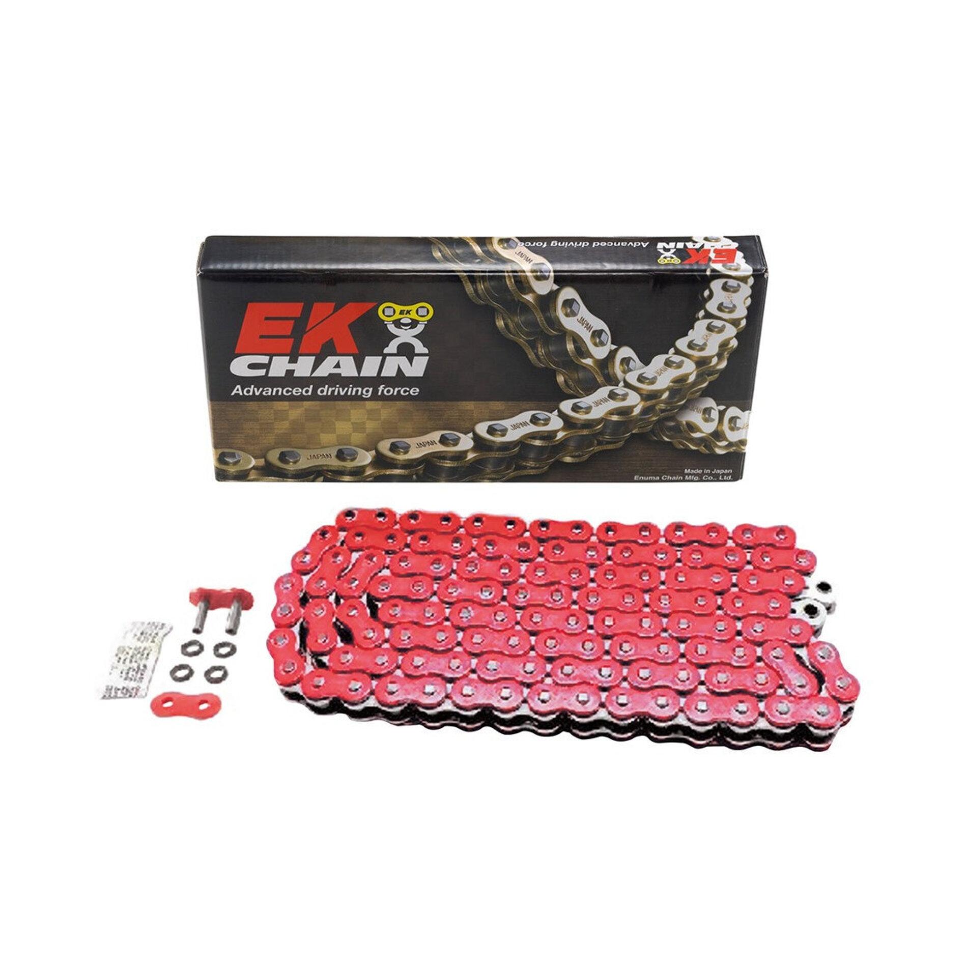 Chaîne EK 525 QX-Ring 120 maillons rouge