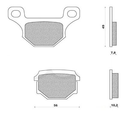 Plaquettes de frein Doppler Avant/Arrière pour Rieju MRT/GPR 125/RS4/R