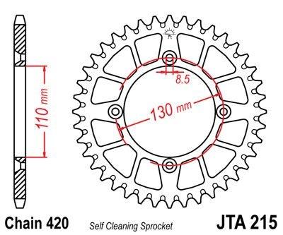 Couronne JT Sprockets Aluminium pas 420 49 dents - Pour Honda CR 80 R