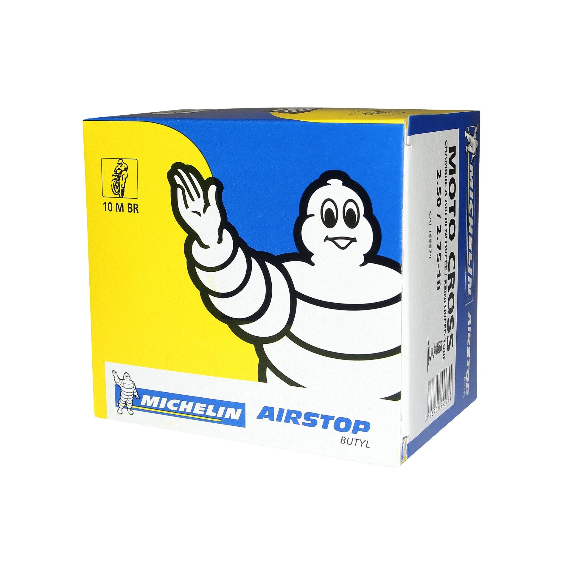 Chambre à air Michelin offroad 2,50-10 / 2,75-10 valve droite