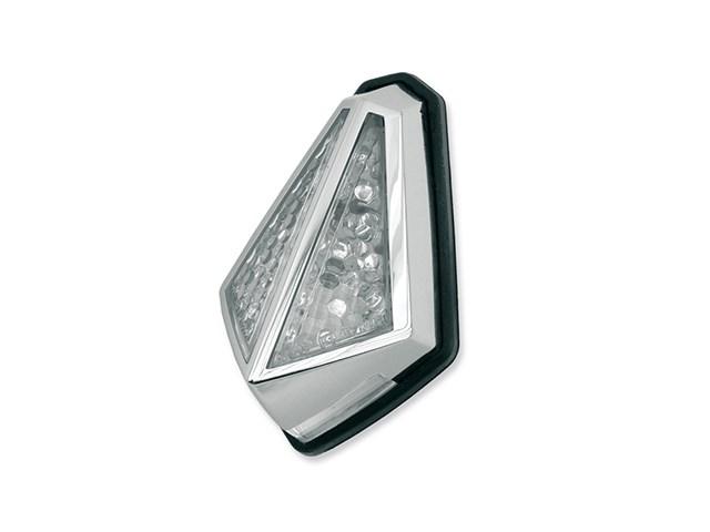 Éclairage arrière Chrome type rubis Vicma avec éclairage plaque immatr