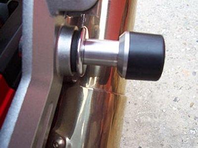 Tampon de protection de silencieux R&G Racing noir Kawasaki Z 1000 03-