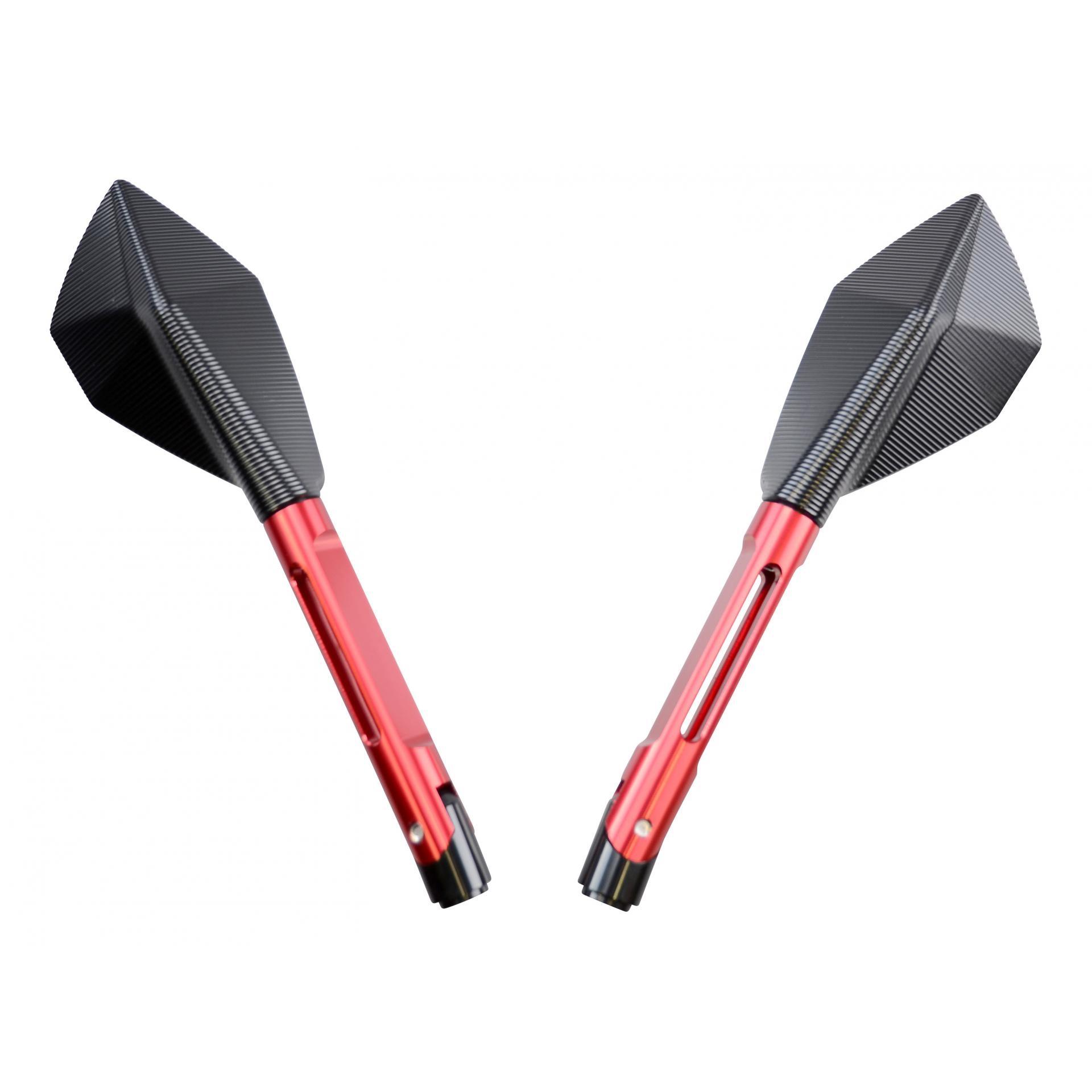 Rétroviseur Echo CNC long noir/rouge