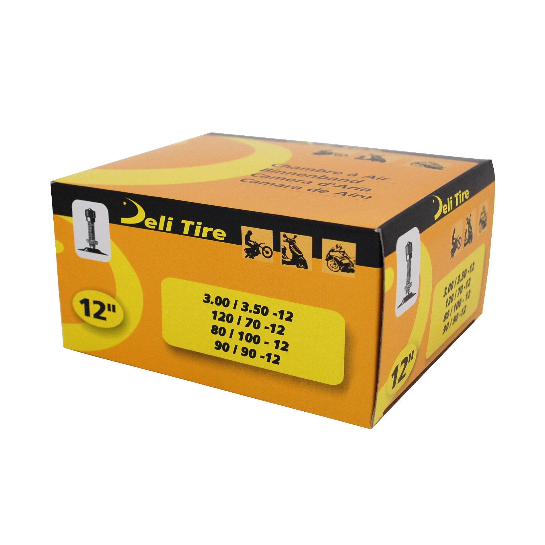 Chambre à Air 12 (DIRT) 3.00/3.50x12 Deli valve Droite