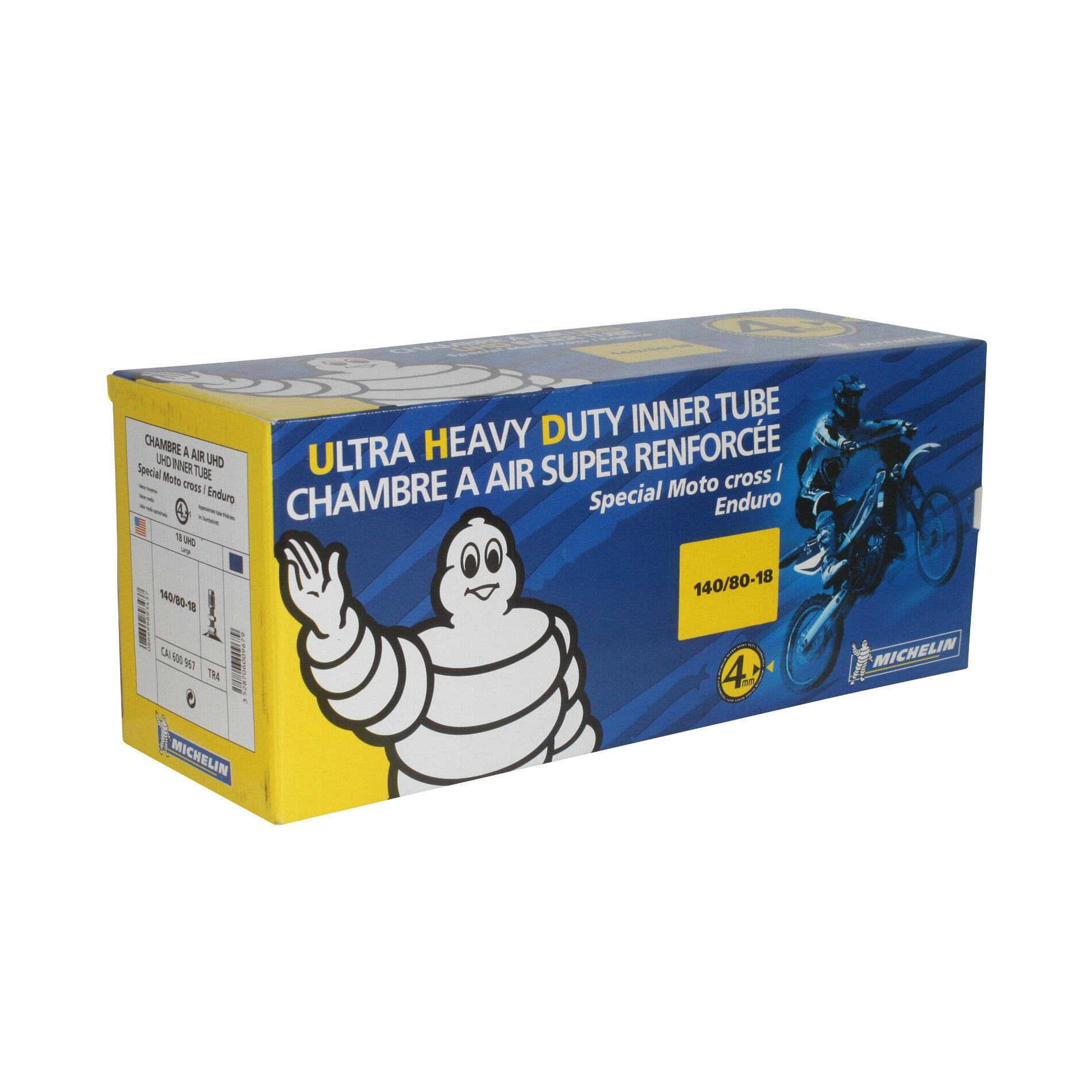 Chambre à air Michelin offroad UHD 140/80-18 valve droite