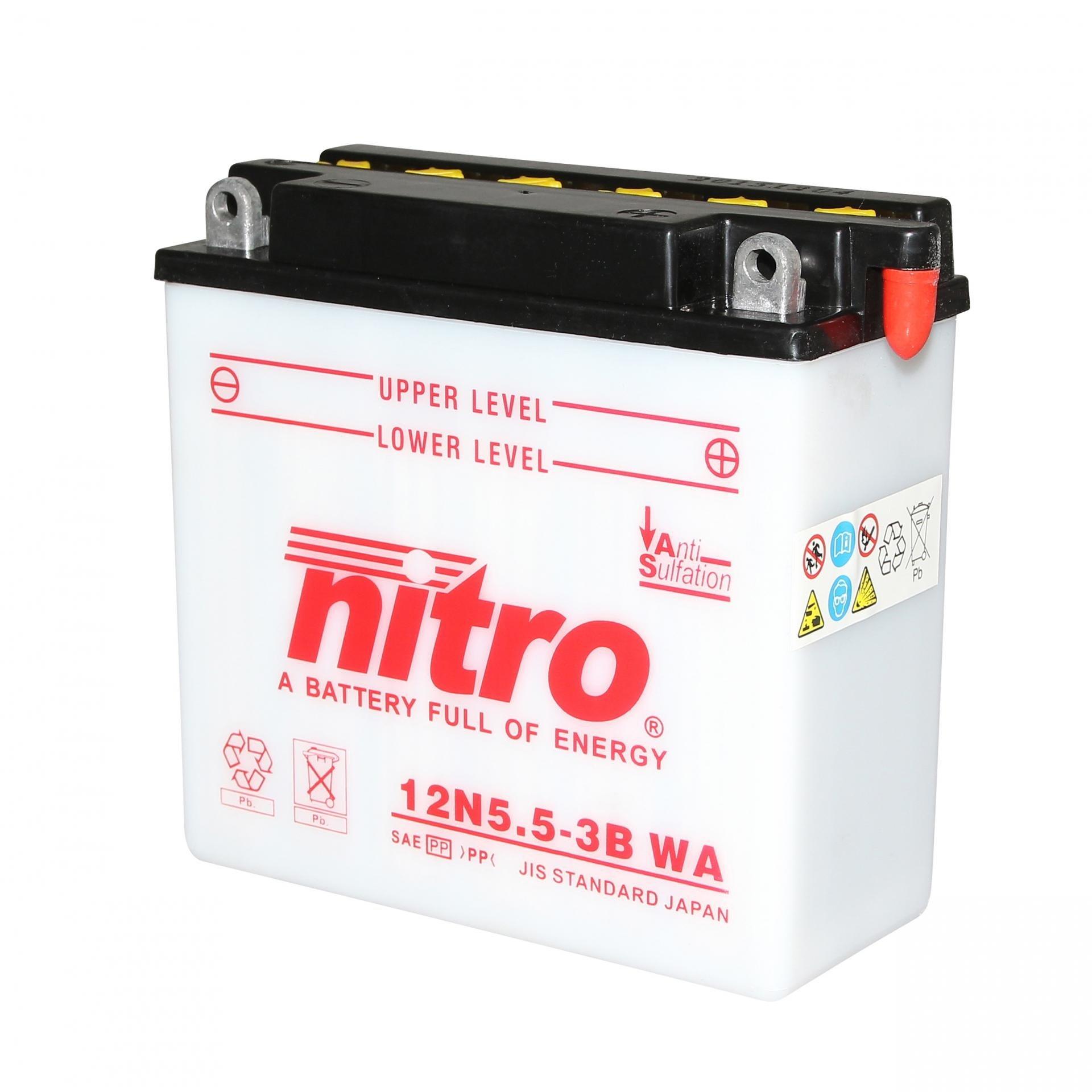 Batterie Nitro 12N5.5-3B 12V 5,5 Ah