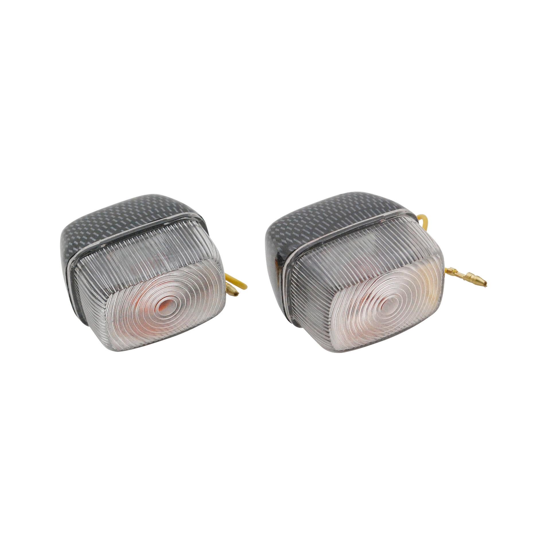 Clignotants avant transparent/carbone MBK 50 Booster/BW's 90/2003