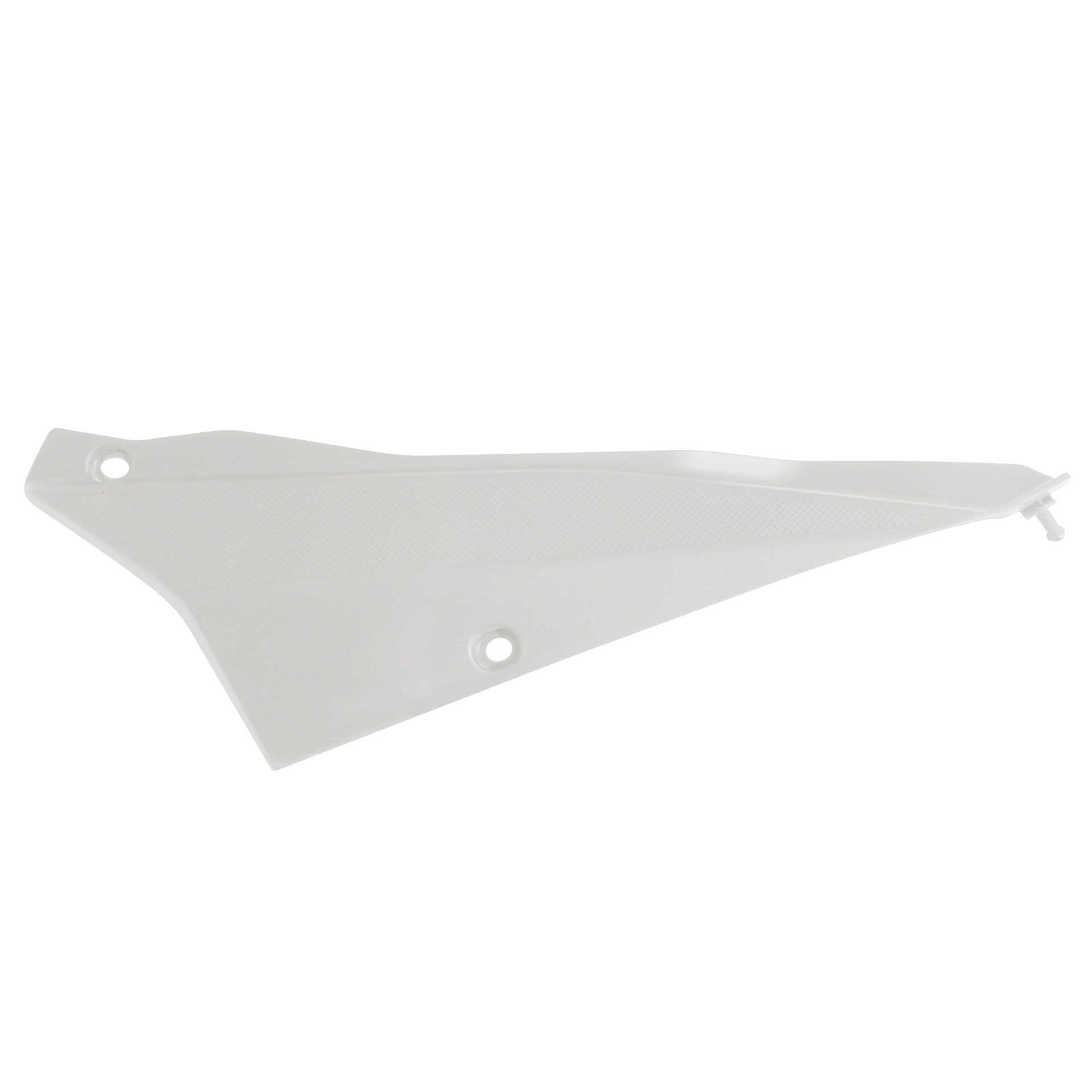 Cache 1Tek Origine arrière gauche blanc brillant Derbi Senda DRD 2011-