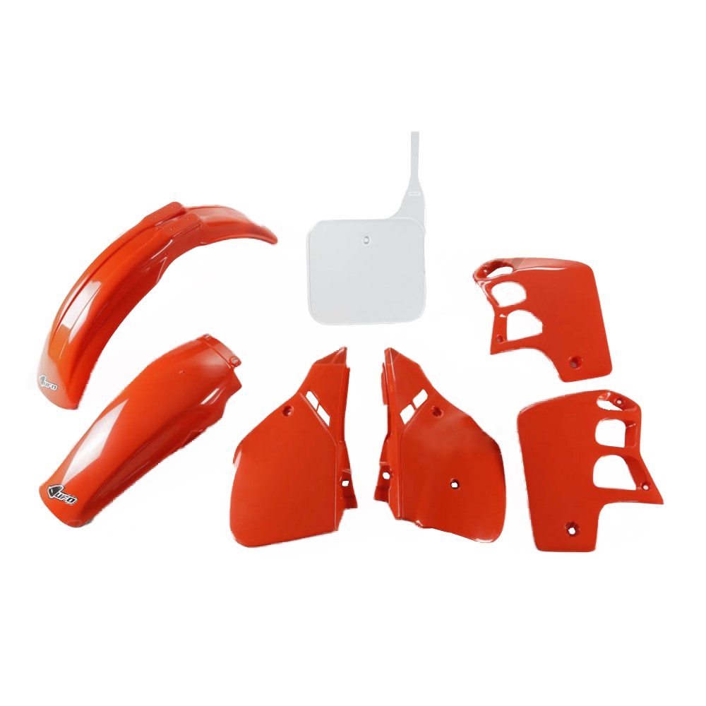 Kit plastique UFO Honda CR 500R 89-90 rouge/blanc (couleur origine 90)