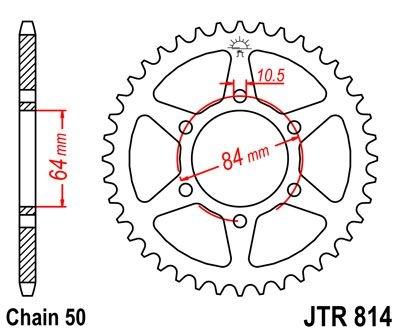 Couronne JT Sprockets Acier pas 530 50 dents - Pour Suzuki GS 550 77-7