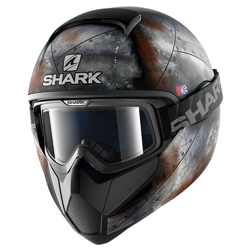 Casque intégral Shark VANCORE FLARE MAT noir/anthracite/orange - L