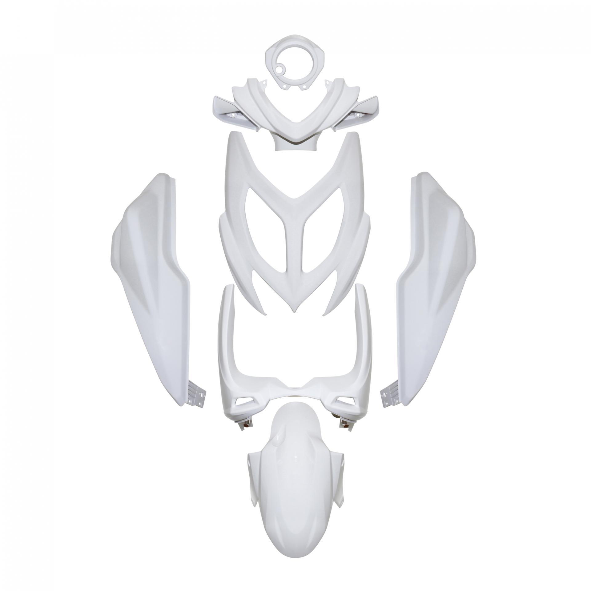 Kit carénage 1Tek Origine blanc brillant Nitro/Aerox 2013-