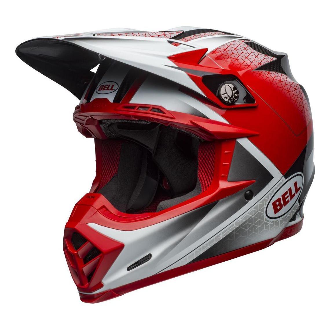 Casque cross Bell Moto-9 Flex Hound rouge/blanc/noir - XS