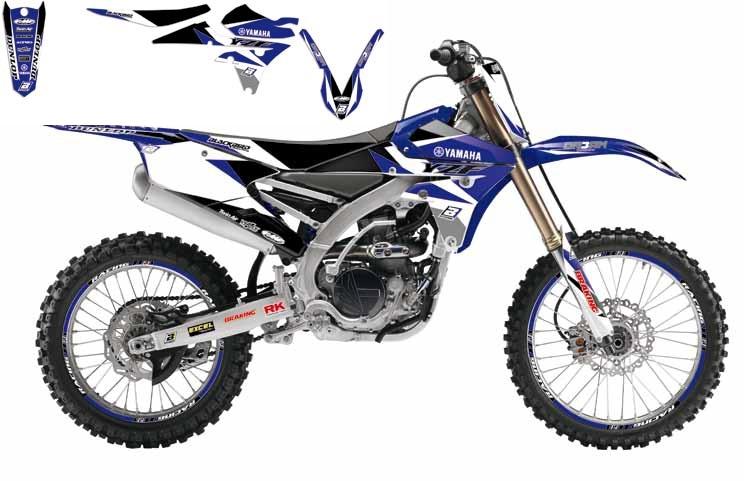 Kit déco + Housse de selle Blackbird Dream Graphic 3 Yamaha 450 YZ-F 1