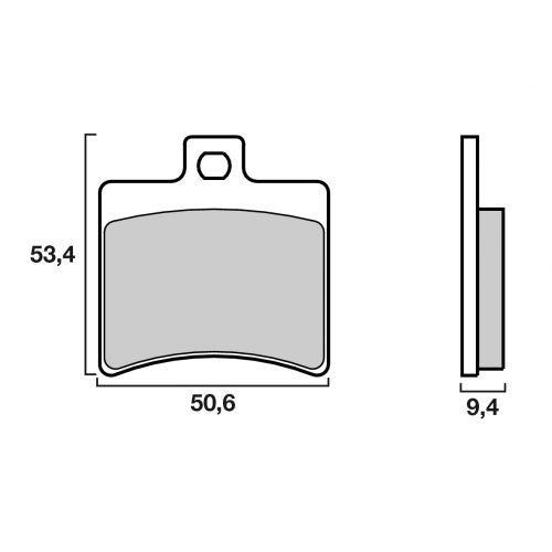 Plaquettes de frein Brembo 07020XS métal fritté arrière