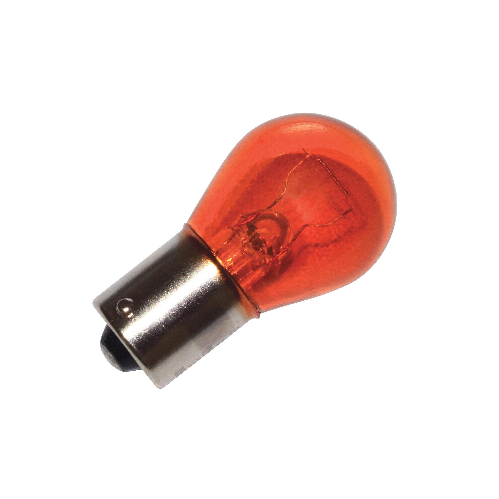 Ampoule flosser BA15S 12v 21w orange ergot décalé