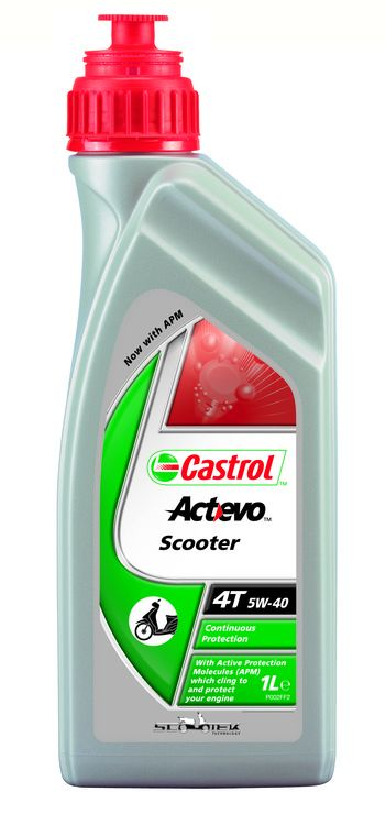 Huile moteur 4T Castrol Act-Evo Scooter 5W40 1l