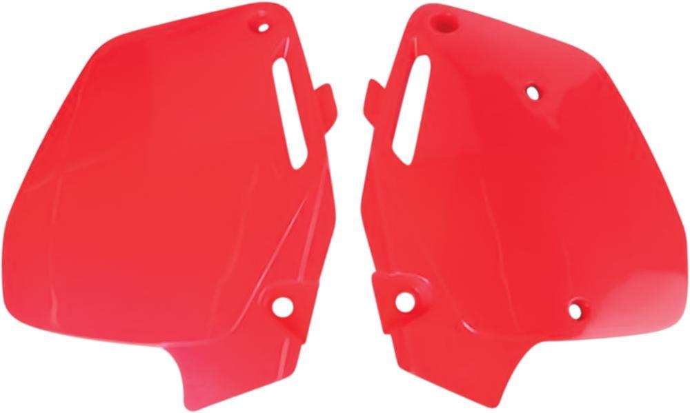 Plaques numéro latérales UFO Honda CR 500R 91-01 rouge (rouge CR 92-99