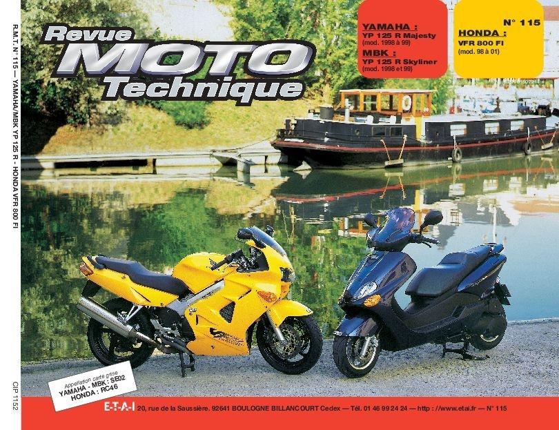 Revue Moto Technique 115.2 Yamaha YP 125R / MBK YP 125R / Honda VFR 80