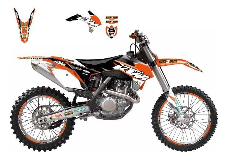 Kit déco Blackbird Dream Graphic 3 KTM 125 SX 93-97 orange