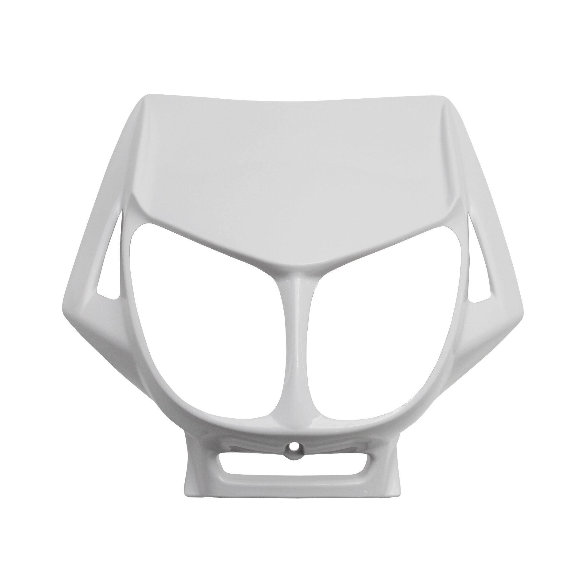 Tête de fourche blanc brillant adaptable derbi senda drd x-treme/x-rac