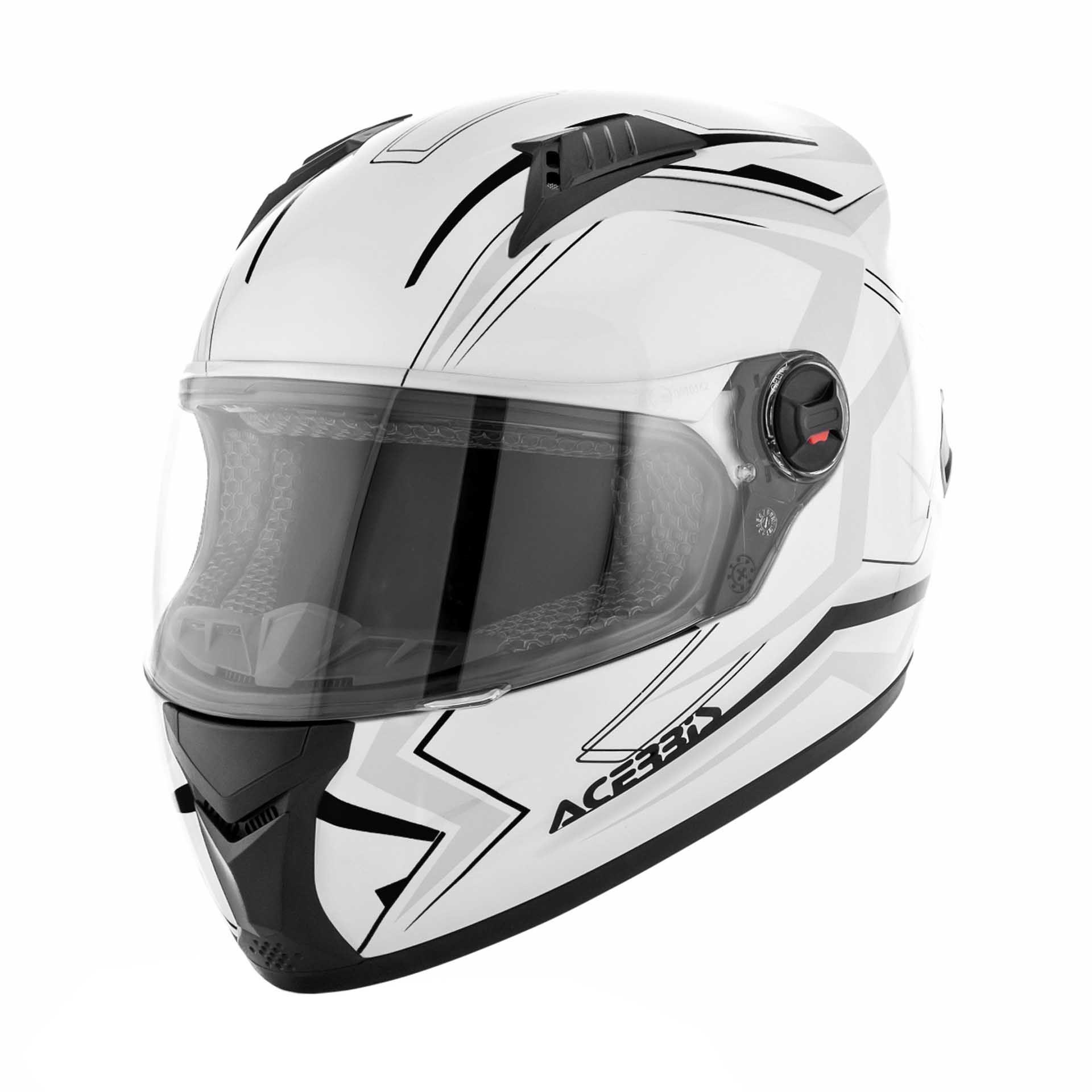 Casque intégral Acerbis FS-807 blanc/noir - XXL