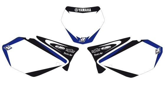 Fonds de plaques Blackbird Dream Graphic 2 Yamaha 250 YZ 02-14 blanc