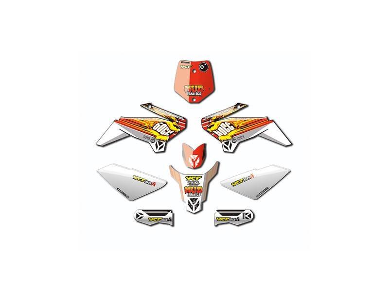Kit déco YCF pour 50cc rouge
