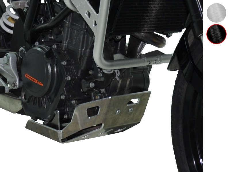 Sabot moteur Bihr aluminium noir pour KTM 125 Duke 11-15