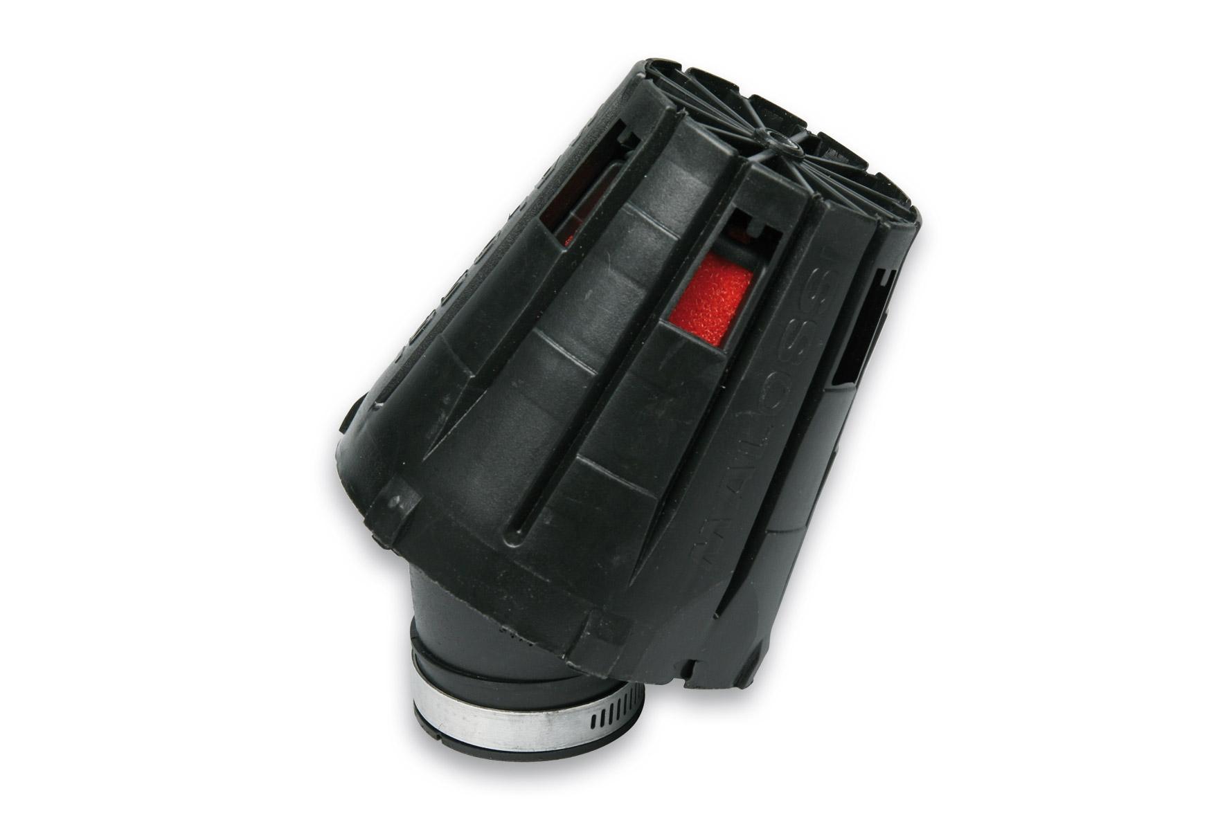 Filtre à air Malossi Red Filter E5 D.38 incliné 30 couvercle noir