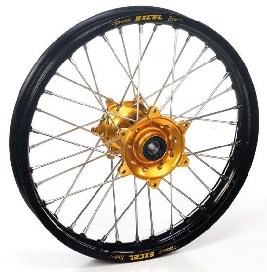 Roue arrière Haan Wheels/Excel 14x1,60 Yamaha 80 YZ 93-01 noir/or