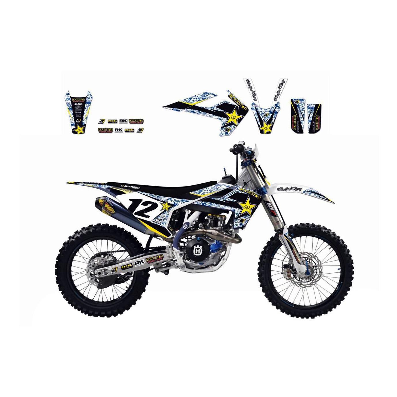 Kit déco Blackbird Rockstar Energy Husqvarna 450 FC 14-15