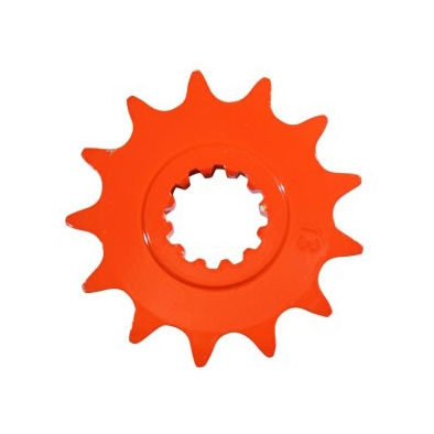 Pignon 13 dents pas 420 Minarelli AM6 orange