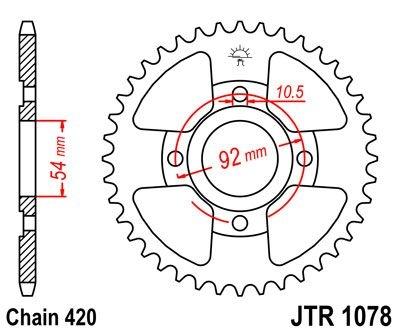 Couronne JT Sprockets Acier pas 420 47 dents - Pour Yamaha TZR 50 97-0