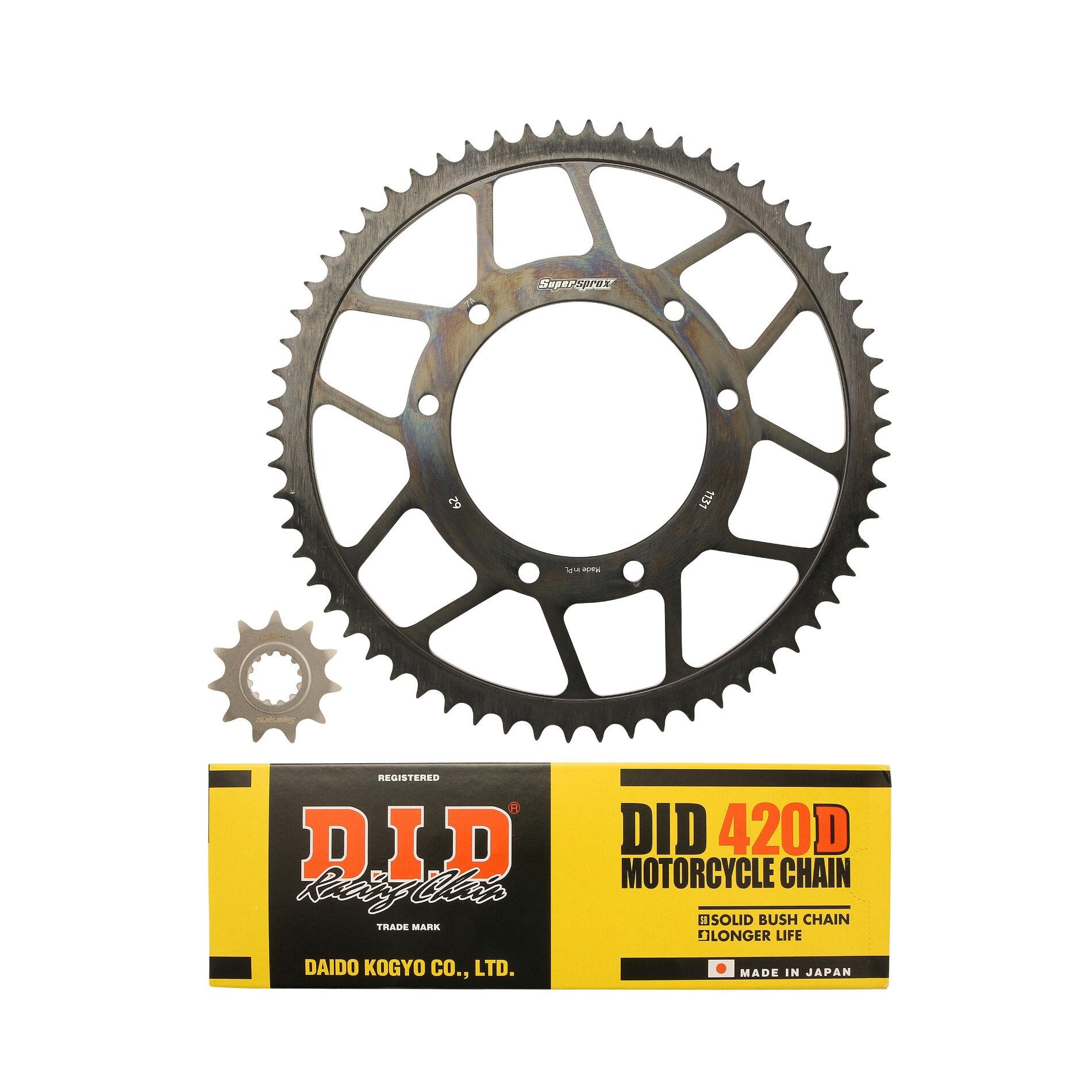 Kit chaîne DID acier Yamaha DTR 50 07-