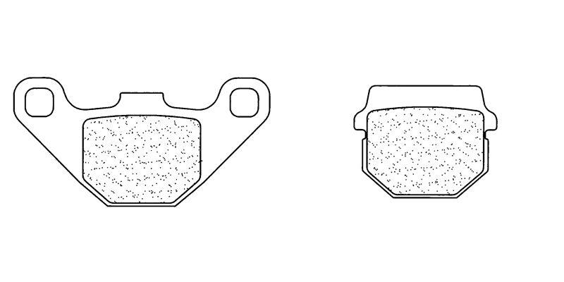 Plaquettes de frein Carbone Lorraine 3022MSC