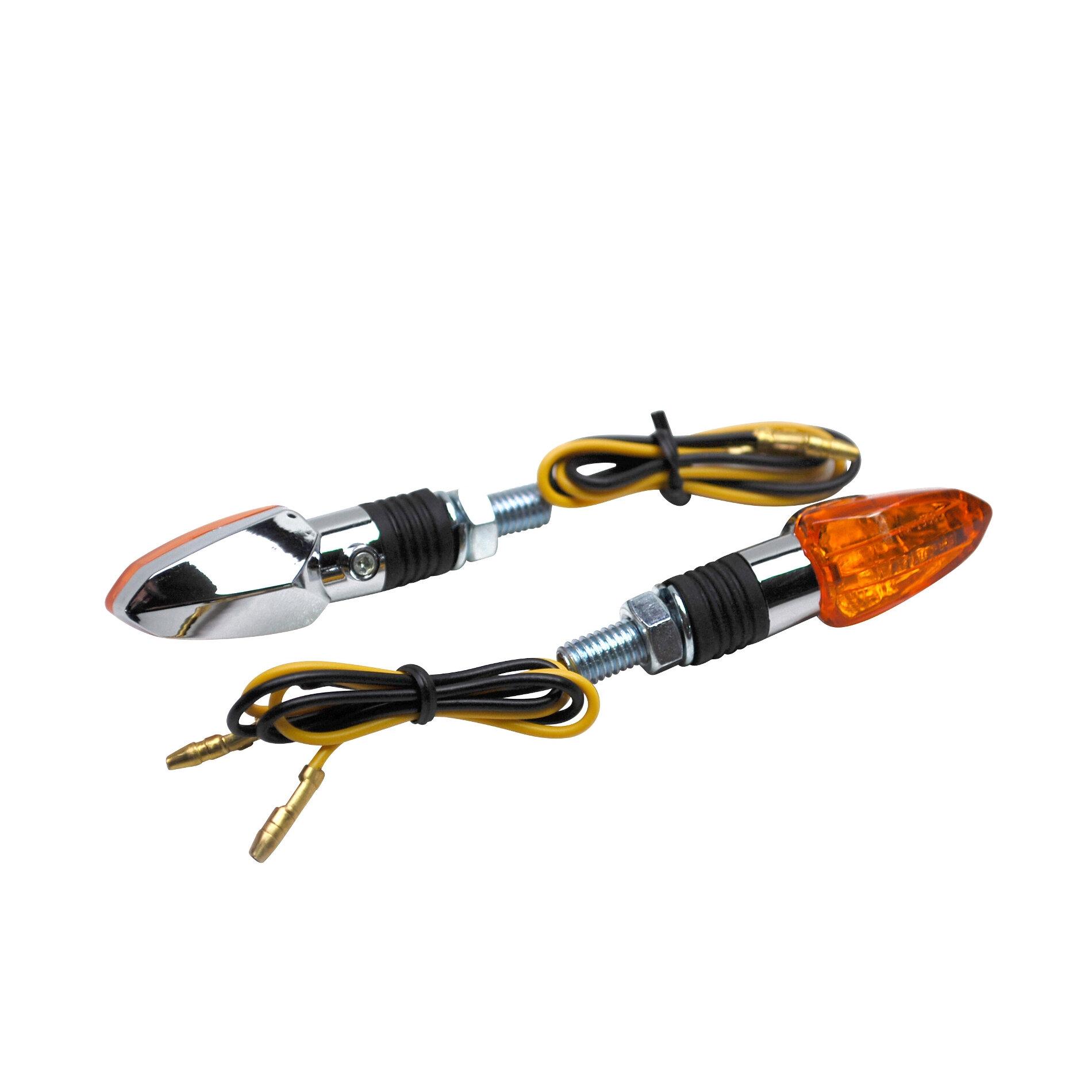 Clignotants Replay micro flèche chrome ampoule orange