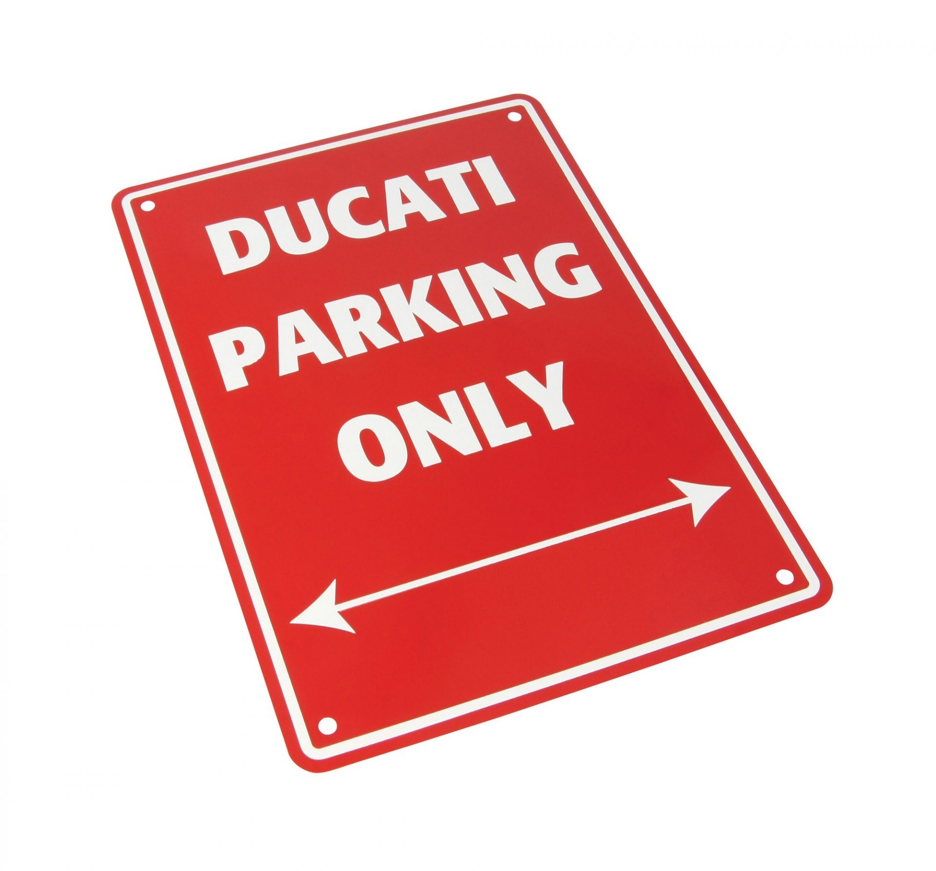 Plaque de parking Ducati parking only