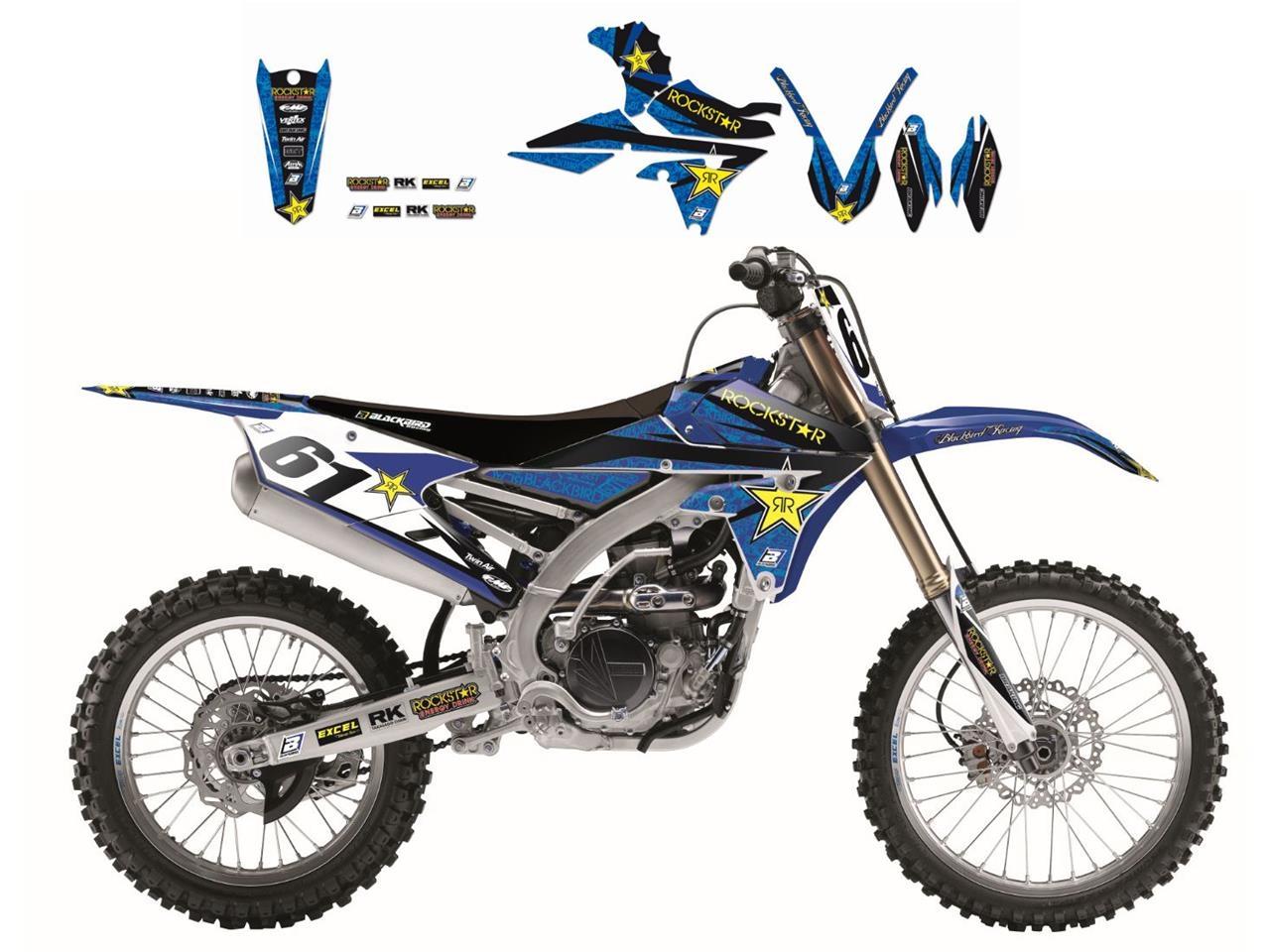 Kit déco Blackbird Rockstar Energy Yamaha 250 YZ 02-14