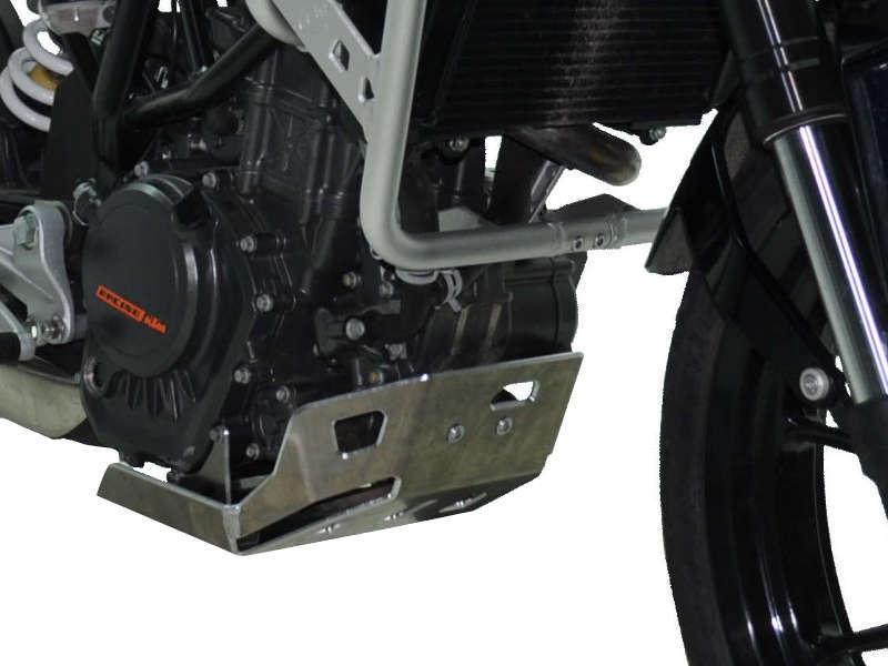 Sabot moteur Bihr aluminium gris pour KTM 125 Duke 11-15
