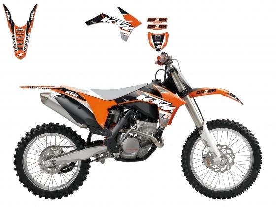 Kit déco Blackbird Dream Graphic 3 KTM 450 SX-F 11-12 orange