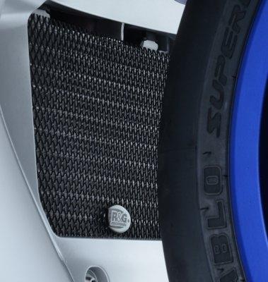 Protection de radiateur dhuile noire R&G Racing Yamaha YZF-R1 15-18
