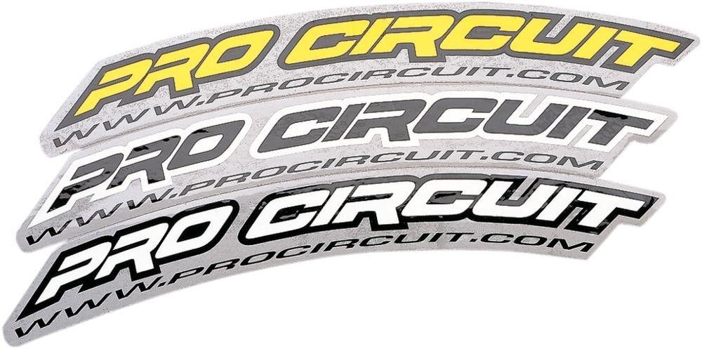 Autocollant de garde-boue avant Pro Circuit noir