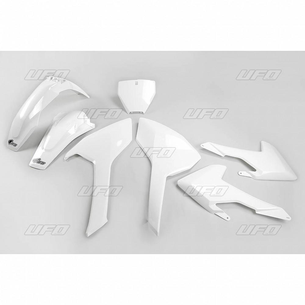 Kit plastique UFO Husqvarna 125 TC 16-18 blanc