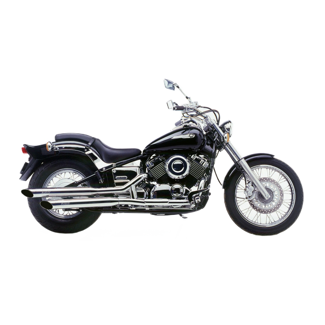 Silencieux SilverTail K02 Tail pour Yamaha XVS 650 Dragstar 97-02