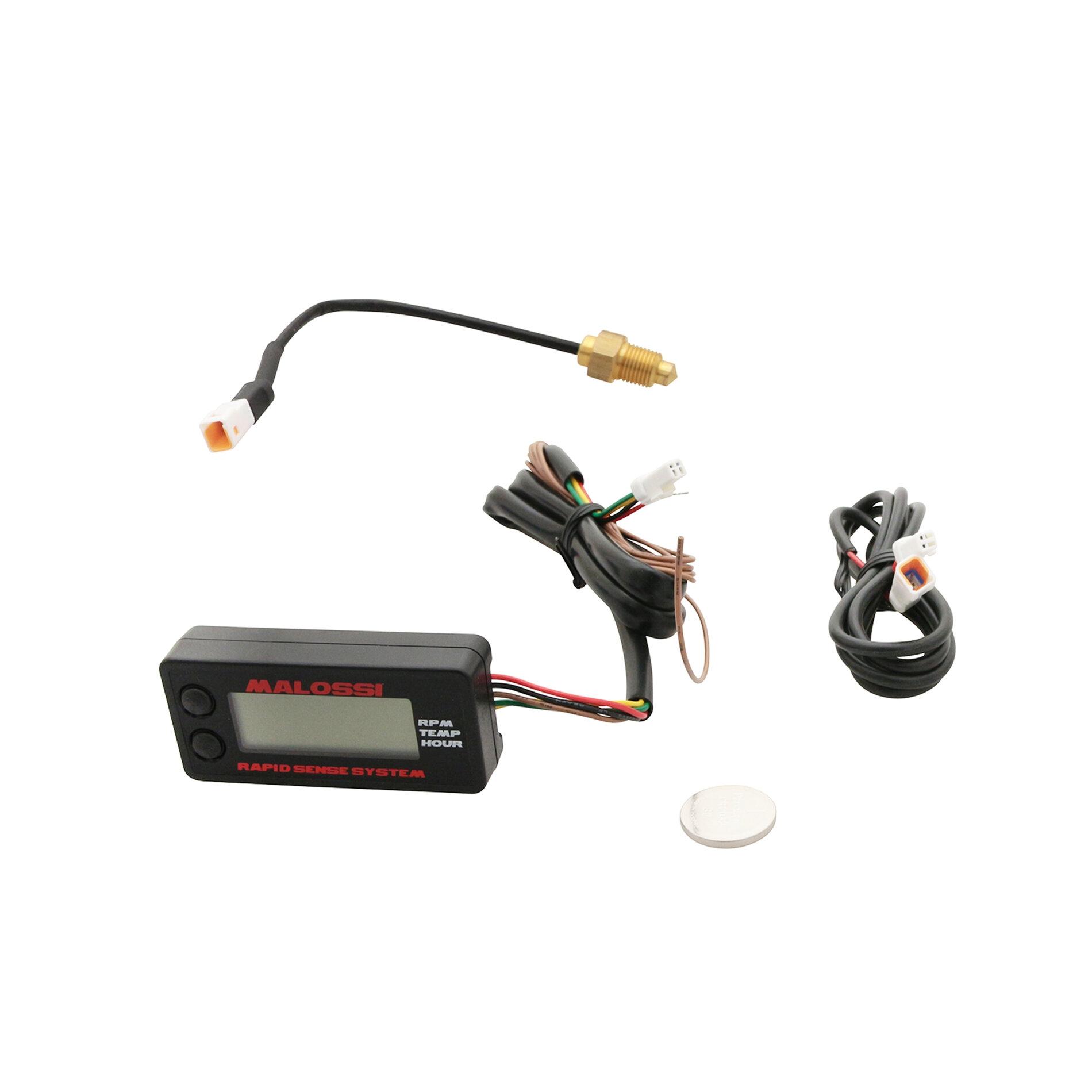 Compte-tours digital Malossi avec indicateur de température