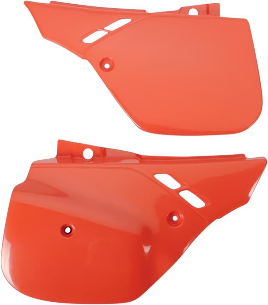 Plaques numéro latérales UFO Honda CR 500R 89-90 orange (orange CR 90)