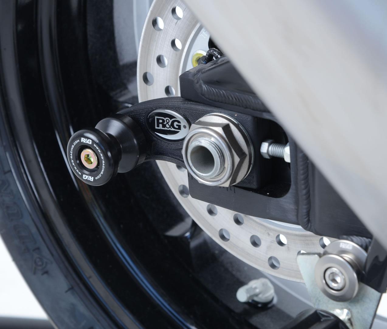 Diabolos de bras oscillant R&G Racing noir sur platine Honda CBR 1000